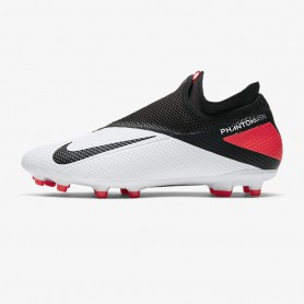 N4866 Football Boot Nike Phantom Vision 2 Academy Dynamic Fit MG-Laser Crimson/Black/Metallic Silver