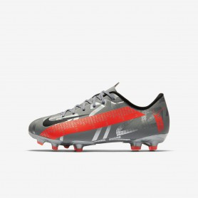 N4923 รองเท้าสตั๊ดเด็ก รองเท้าฟุตบอลเด็ก Nike Jr. Mercurial Vapor 13 Academy MG-Laser Crimson/Black