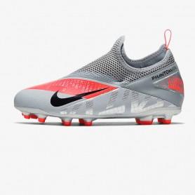 N4652 รองเท้าสตั๊ดเด็ก รองเท้าฟุตบอลเด็ก Nike Jr. Phantom Vision Academy Dynamic Fit MG-Dark Grey/Black/Bright Mango