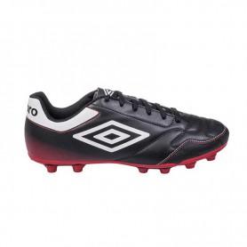 U0631 รองเท้าฟุตบอล รองเท้าสตั๊ด UMBRO Classico-สีดำ/ขาว/แดง