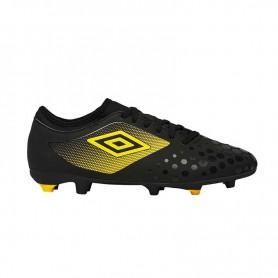 U0640 รองเท้าฟุตบอล รองเท้าสตั๊ด UMBRO UX Accuro II Club HG-สีดำ/เหลือง