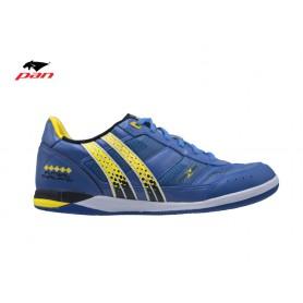 PA0641 รองเท้าฟุตซอล Pan IMPULSE ZERO - Blue/Yellow (ตัวทอป)