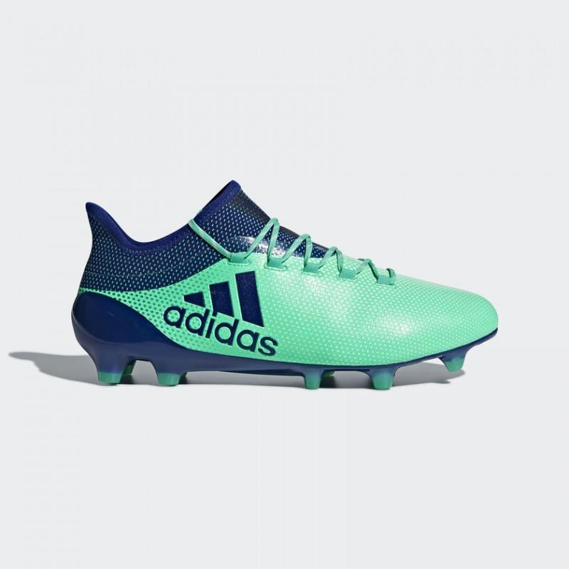 A0647 รองเท้าฟุตบอล รองเท้าสตั๊ด ADIDAS X 17.1 FG -Aero/Green
