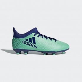 A0653 รองเท้าฟุตบอล รองเท้าสตั๊ดเด็ก ADIDAS X 17.3 JR. FG - Aero/Green