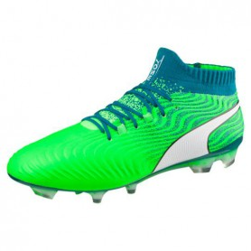 P0658 รองเท้าฟุตบอล รองเท้าสตั๊ด PUMA ONE 18.1 FG-Green Gecko