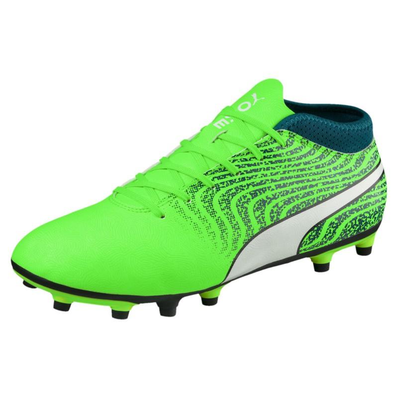 P0659 รองเท้าฟุตบอล รองเท้าสตั๊ด PUMA ONE 18.4 FG -Green Gecko