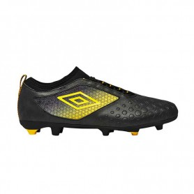 U0670 รองเท้าฟุตบอล รองเท้าสตั๊ด UMBRO UX Accuro II Premier HG - สีดำ/เหลือง