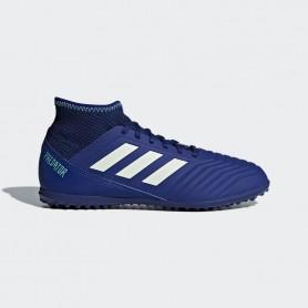 A0677 รองเท้าฟุตบอล100 ปุ่มเด็ก สนามหญ้าเทียม ADIDAS Predator 18.3 JR. TF -Blue