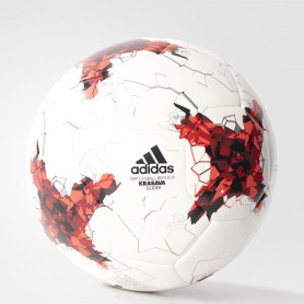 A0684 ลูกฟุตบอล Adidas FIFA CONFEDERATIONS CUP GLIDER BALL-WHITE/BRIRED/RED/BLACK