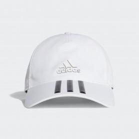 A0714 หมวก adidas C40 3-Stripes Climalite Cap-White/Black