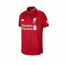 NB0731 เสื้อฟุตบอลเด็ก newbalance Liverpool Junior Short Sleeve Jersey 18/19 - ชุดเหย้า ของแท้