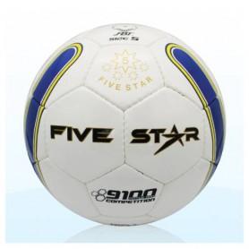 F0076 ลูกฟุตบอลหนังเย็บ ไฟว์สตาร์ No.9100