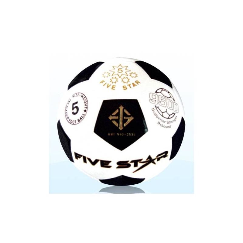 F0086 ลูกฟุตบอลหนังอัด ไฟว์สตาร์ หนัง PU คาริโน No.9500