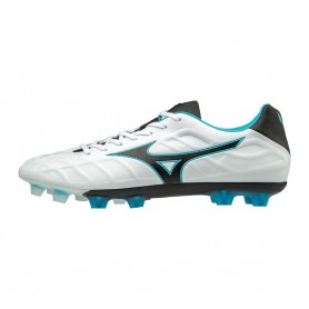 M0786 รองเท้าฟุตบอล รองเท้าสตั๊ด MIZUNO Rebula V1- white/black/light blue