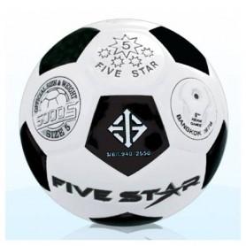 F0087 ลูกฟุตบอลหนังอัดไฟว์สตาร์ No.5000S หนัง PU คาริโน
