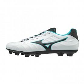 M0788 รองเท้าฟุตบอล รองเท้าสตั๊ด MIZUNO Rebula V3- white/black/light blue
