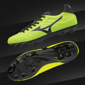 M0789 รองเท้าฟุตบอล รองเท้าสตั๊ด MIZUNO Rebula V3- Safety Yellow / Black / Silver