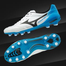 M0792 รองเท้าฟุตบอล รองเท้าสตั๊ด MIZUNO Monarcida 2 Neo Japan -Pearl / Black / Blue Atoll