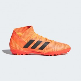 A0816 รองเท้าฟุตบอล 100 ปุ่ม สนามหญ้าเทียม ADIDAS NEMEZIZ TANGO 18.3 TF -Zest / Core Black / Solar Red