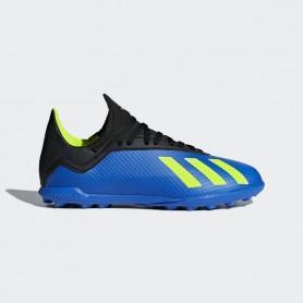 A0821 รองเท้าฟุตบอล 100 ปุ่มเด็ก สนามหญ้าเทียม ADIDAS X TANGO 18.3 JR. TF -Blue