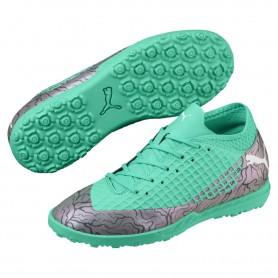 P0831 รองเท้าฟุตบอลเด็ก รองเท้า 100 ปุ่มเด็ก PUMA FUTURE 2.4 TT Jr -Green
