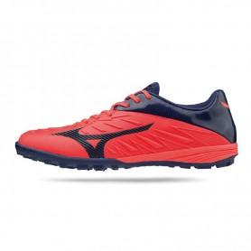 M0860 รองเท้าฟุตบอล 100ปุ่ม สนามหญ้าเทียม MIZUNO Rebula TF-High Risk Red/White/Black