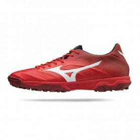 M0861 รองเท้าฟุตบอล 100ปุ่ม สนามหญ้าเทียม MIZUNO Rebula 2 V2 AS-High Risk Red/White/Black
