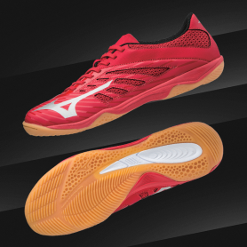 M0857 รองเท้าฟุตบอล 100ปุ่ม สนามหญ้าเทียม MIZUNO BASARA 103 TF-Red/Silver