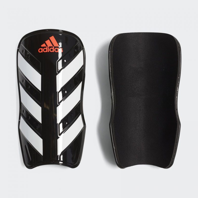A0875 สนับแข้ง Adidas Everlesto Shin Guards-Black/White /Solar Red