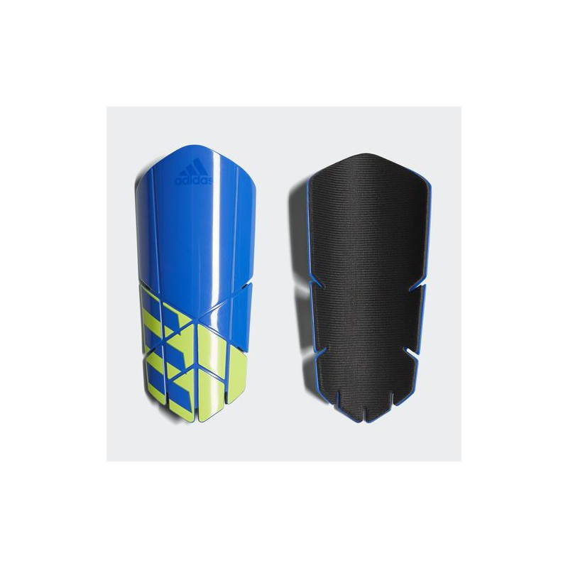 A0877 สนับแข้ง Adidas X Lesto Shin Guards-blue/solar yellow