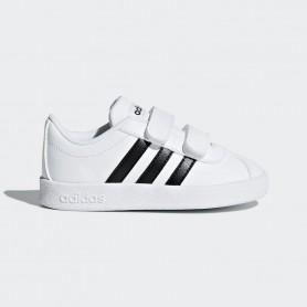 A0895 รองเท้า Sneakers เด็กเล็ก adidas VL Court 2.0 Shoes-white/black