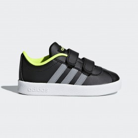 A0896 รองเท้า Sneakers เด็กเล็ก adidas VL Court 2.0 Shoes-black