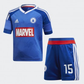 A0898 ชุดเซตเด็ก adidas Marvel Spider-Man Football Set-Blue
