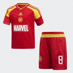 A0900 ชุดเซตเด็ก adidas Marvel Iron Man Football Set-Red