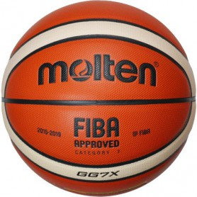 M0871 ลูกบาสเกตบอล MOLTEN GG7X Leather Basketball-FIBA Approved