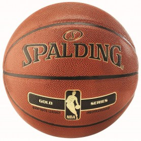 S0862 ลูกบาสเกตบอล Spalding NBA Gold Series Basketball
