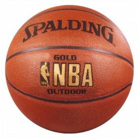 S0866 ลูกบาสเกตบอล Spalding NBA Gold Outdoor BasketBall