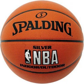 S0864 ลูกบาสเกตบอล Spalding NBA Silver Indoor/Outdoor Basketball