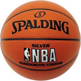 S0864 ลูกบาสเกตบอล Spalding NBA Silver Indoor/Outdoor Basketball