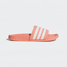 A0887 รองเท้า ผู้หญิง Adidas Adilette Cloudfoam Plus Stripes Slides-chalk coral