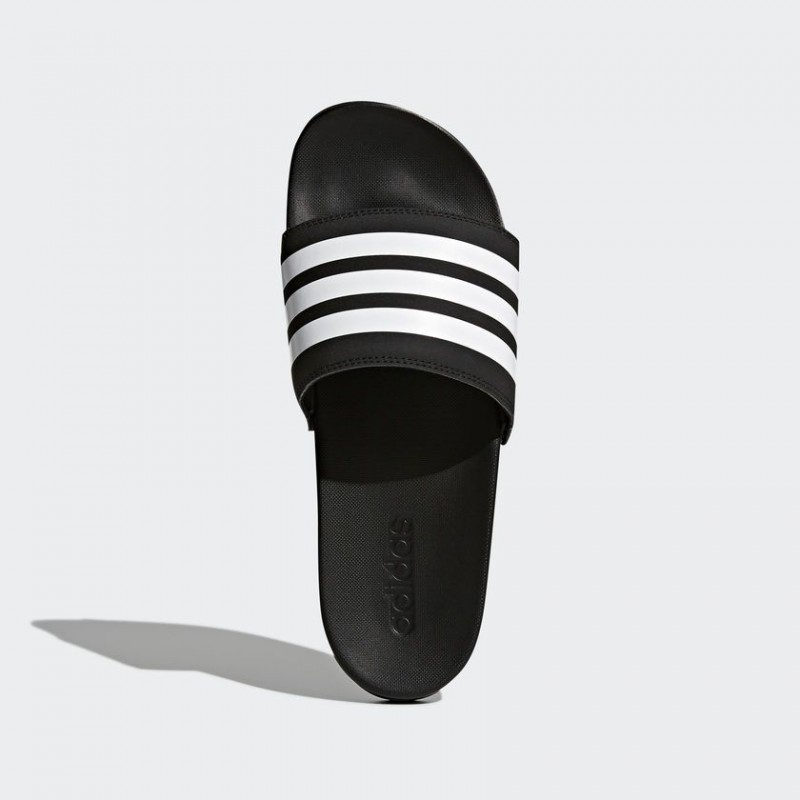 A0885 รองเท้า Adidas Adilette Cloudfoam Plus Stripes Slides-Black/White