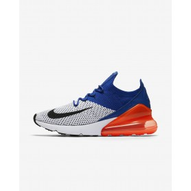 N0959 รองเท้า Nike Air Max 270 Flyknit-White/Racer Blue/Total Crimson/Black
