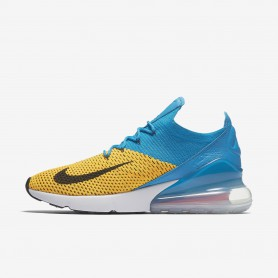 N0960 รองเท้า Nike Air Max 270 Flyknit-Laser Orange/Blue Orbit/Bright Crimson/Black