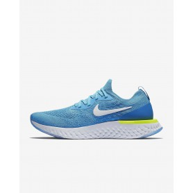 N0962 รองเท้าวิ่ง Nike Epic React Flyknit-Blue Glow/Photo Blue/Volt Glow/White
