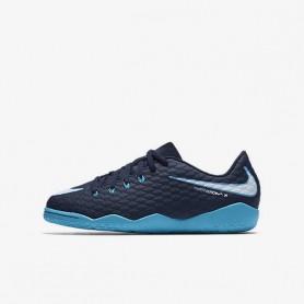 N0109  รองเท้าฟุตซอลเด็ก NIKE HYPERVENOM PHELON 3IC Jr. - Gamma Blue