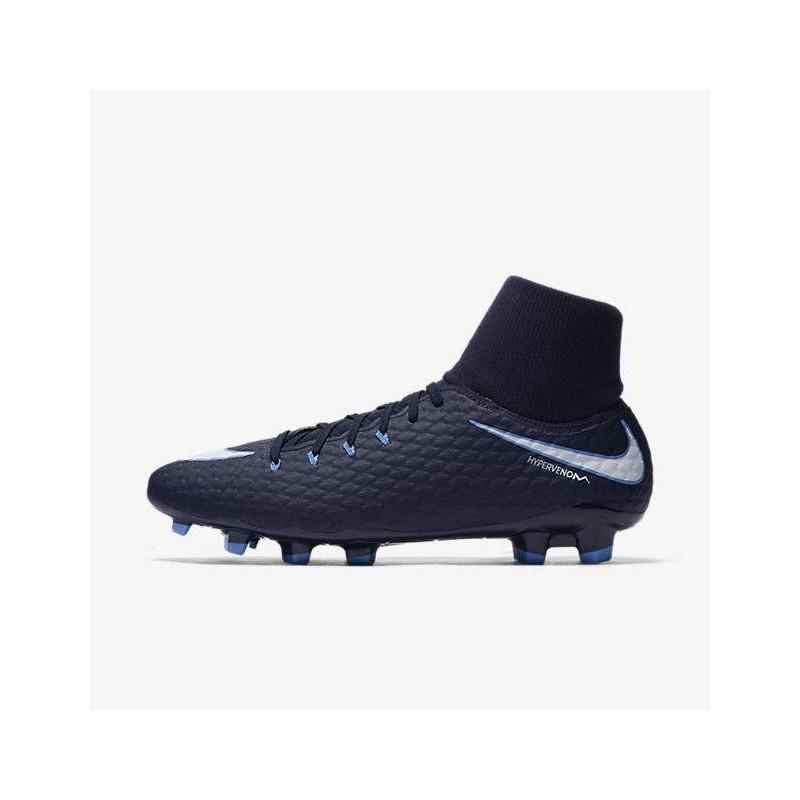 N0110 รองเท้าสตั๊ด รองเท้าฟุตบอล HYPERVENOM PHELON III DYNAMIC FIT FG - Gamma Blue