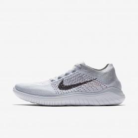 N1050 รองเท้าวิ่ง Nike Free RN Flyknit 2018-Pure Platinum