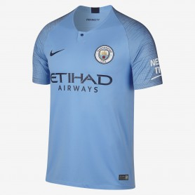 N1076 เสื้อฟุตบอล NIKE Manchester City FC Stadium Home 2018/19 - ชุดเหย้า ของแท้