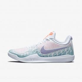 N1087 รองเท้าบาสเกตบอล Nike Mamba Rage-White/Hyper Grape