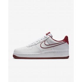 N1101 รองเท้า Nike Air Force 1 '07-White/Team Red